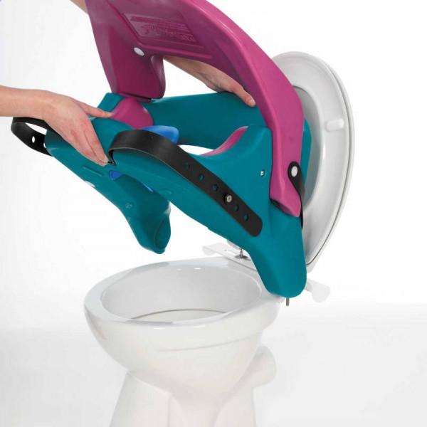 Thomashilfen Toilettenaufsatz Aqua mit Fussbank