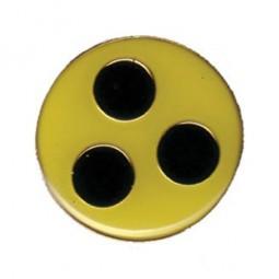 Blindenplakette mit Befestigung Magnetclip