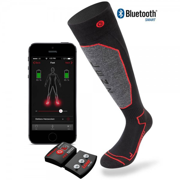 Lenz Set heat sock 1.0 + lithium pack 1200 bluetooth - beheizbare Socken