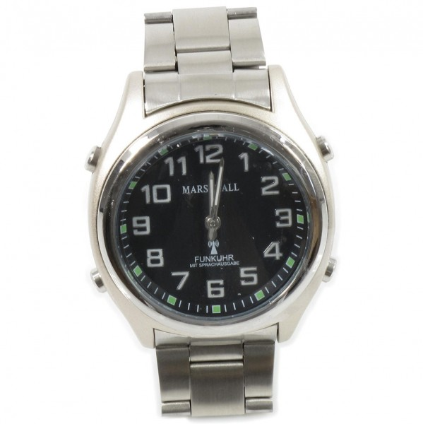 Sprechende Funk-Armbanduhr Black