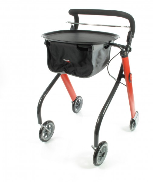 Trust Care Indoor Rollator Let's Go rot schwarz