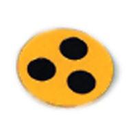 Plakette für Blinde, Ø 3 cm