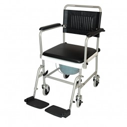 Drive medical Toilettenrollstuhl TRS 130 - pulverbeschichtet