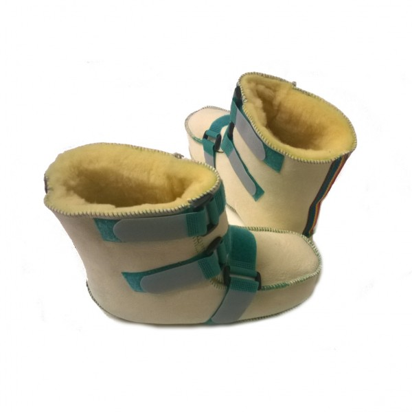 Orgaterm Reha-Schuhe mit Schaf-Fell und Klett