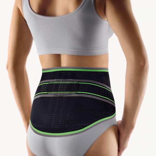 Bort StabiloBasic Sport Lady Rückenbandage mit Pelotte, schwarz-grün