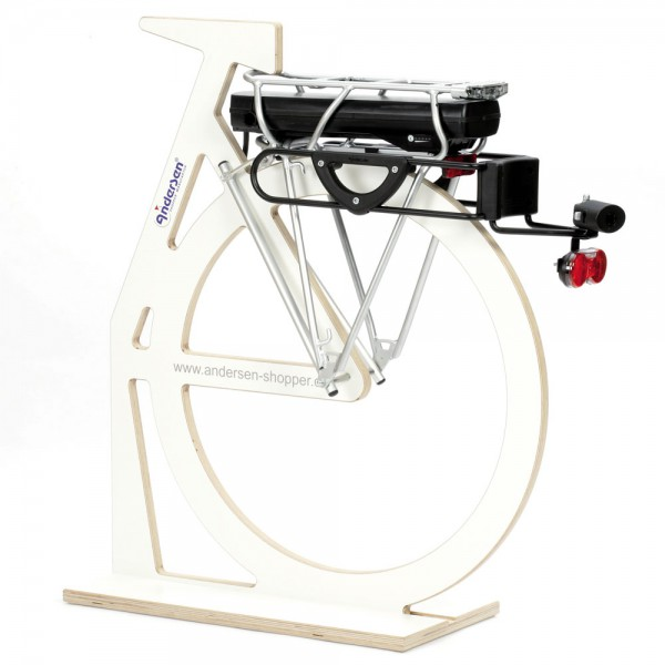Andersen Kupplung G1-Pull Easy mit Schloss und Diodenrücklicht für Fahrrad
