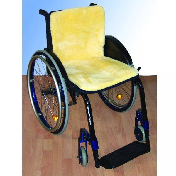 Orgaterm Rollstuhl-Auflage Echtfell durchgehend