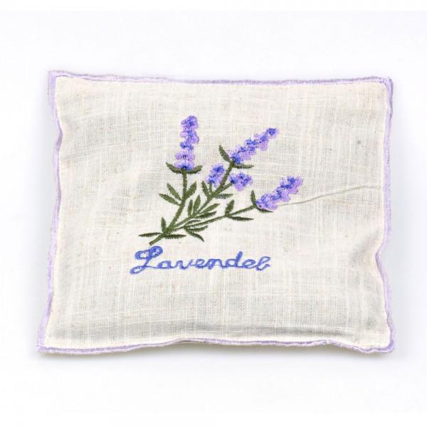 Herbalind Lavendelkissen mit Stickerei