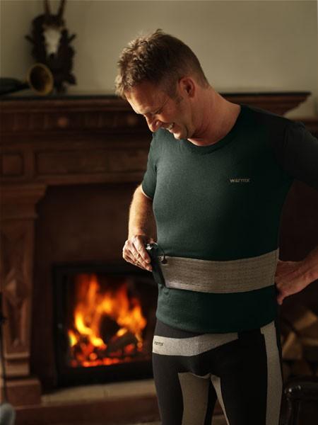 warmX undershirt beheizbar Viertelarm für Herren aus Microfaser