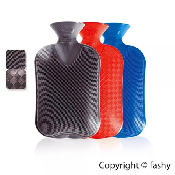Fashy Wärmflasche Classic 2,0 L mit Halblamelle