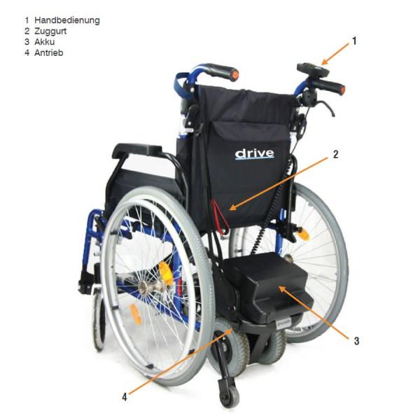DRIVE PowerStroll HD Rollstuhlschiebehilfe bis 180 kg