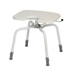 CareLine 360° Drehbarer Duschhocker PRACTICE mit Intimausschnitt