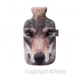 Fashy Wärmflasche mit Bezug Photoprint Wolf 67209