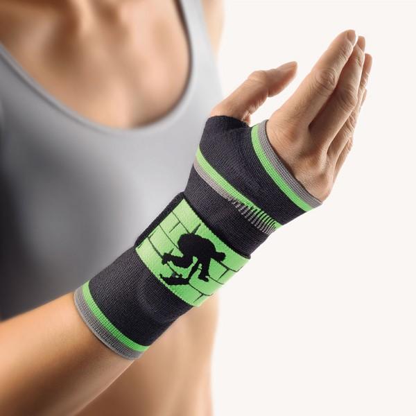 Bort ManuBasic® Sport Handgelenkbandage, schwarz-grün