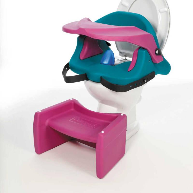 thomashilfen toilettenaufsatz aqua mit fussbank kinder. Black Bedroom Furniture Sets. Home Design Ideas