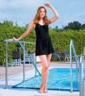 Suprima Inkontinenz Badeanzug modisch, schwarz