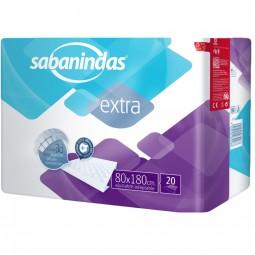 Sabanindas Extra Bettschutzeinlagen 80x180 cm (1x20 Stk.)
