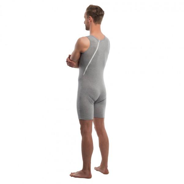 Suprima Pflegebody Rückenreißverschluss grau