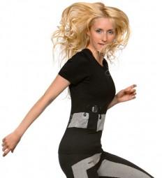 warmX undershirt beheizbar Viertelarm für Damen aus Microfaser