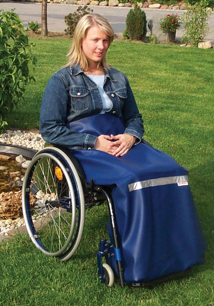Beinschutzdecke Leder für Rollstuhlfahrer