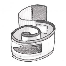 Kletthalteband für uroVision Beinbeutel