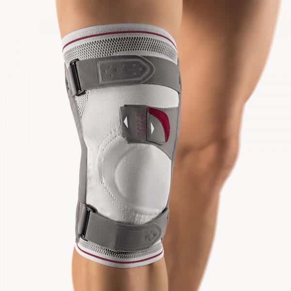 Bort Asymmetric® Plus Kniebandage, silber