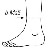 Maßnahme am Knöchel