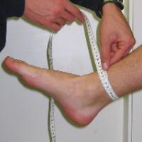 Maßhilfe Knöchel
